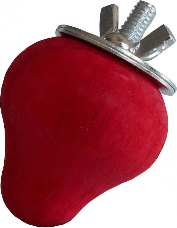TYROL Tutti Woody. Fraise en bois pour Rongeur et Lapin. Friandise à ronger spécial dentition. 100% Bois. Coloris Rouge. 6,5 CM