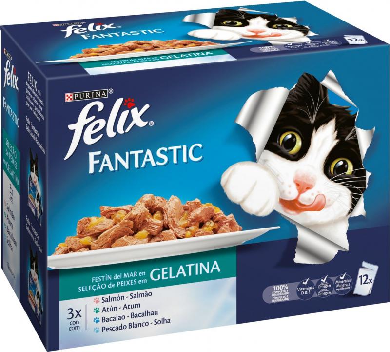 PACK de 4 Pâtées FELIX Fantastic festin - 2 saveurs au choix