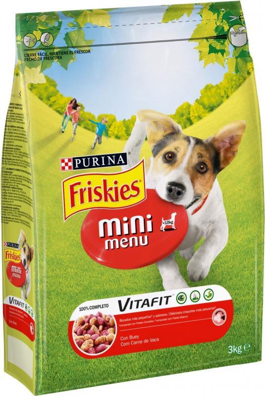 Croquettes Friskies Mini Menu pour chien Adulte