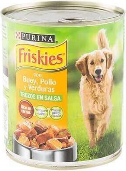 Friskies pour chien Adulte Pâtée en sauce avec morceaux de Viandes