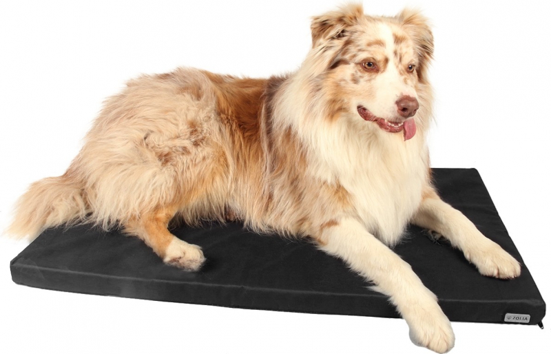 Matelas pour Grand chien Zolia NAYA noir - Facile à nettoyer - 90cm