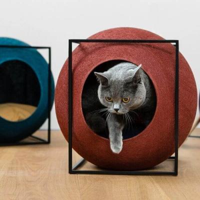 Panier Meyou Le Cube édition métal pour chat