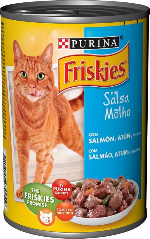 Pâtée Friskies pour Chat Adulte Saumon et Thon en sauce