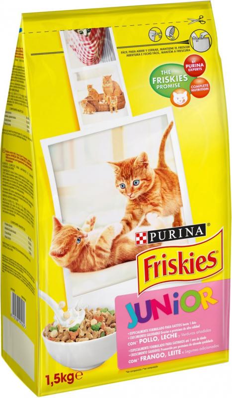 Friskies pour Chat Junior Poulet, légumes et lait