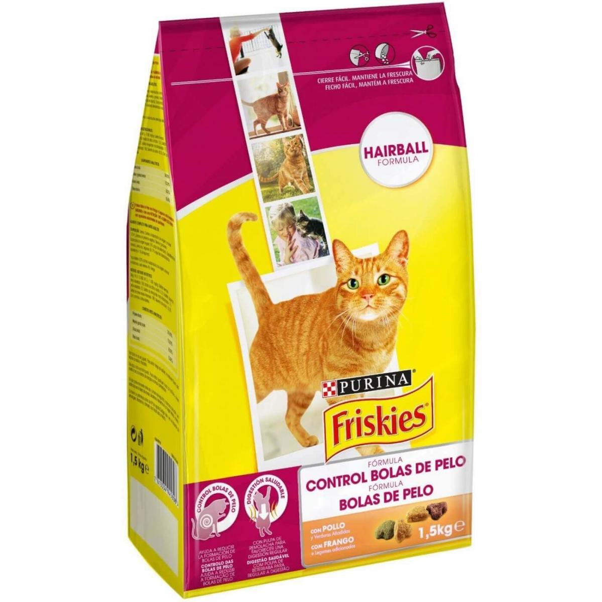 Friskies croquettes pour chat boules de poils croquette chat - Gant pour poil de chat ...
