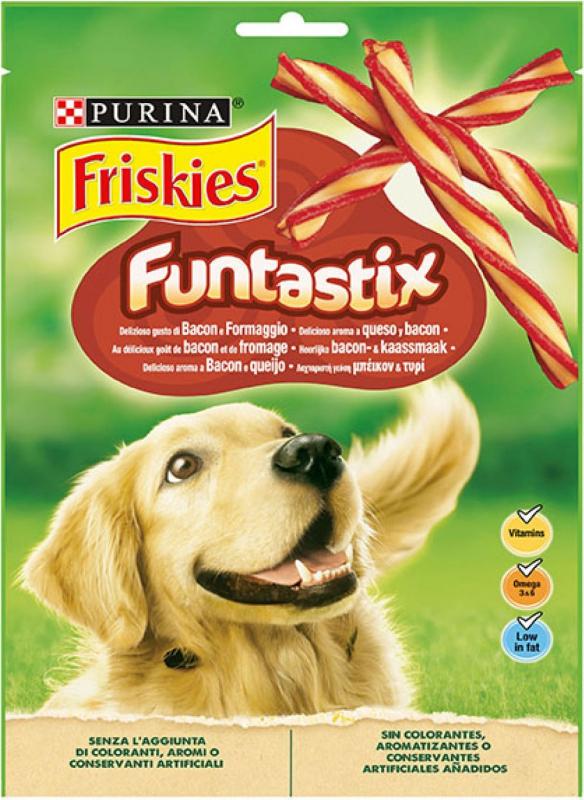 Friandises Friskies Funtastix bâtonnets saveur fromage pour chien