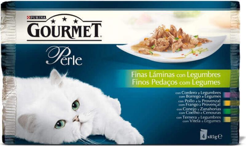 Pack de 4 Pâtées GOURMET Perle Fines Lamelles