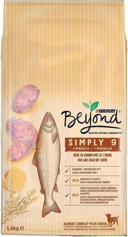 Beyond Simply 9 Croquettes pour chien Adulte Saumon et Avoine