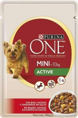 Pâtée Purina ONE Mini Active Chien Adulte