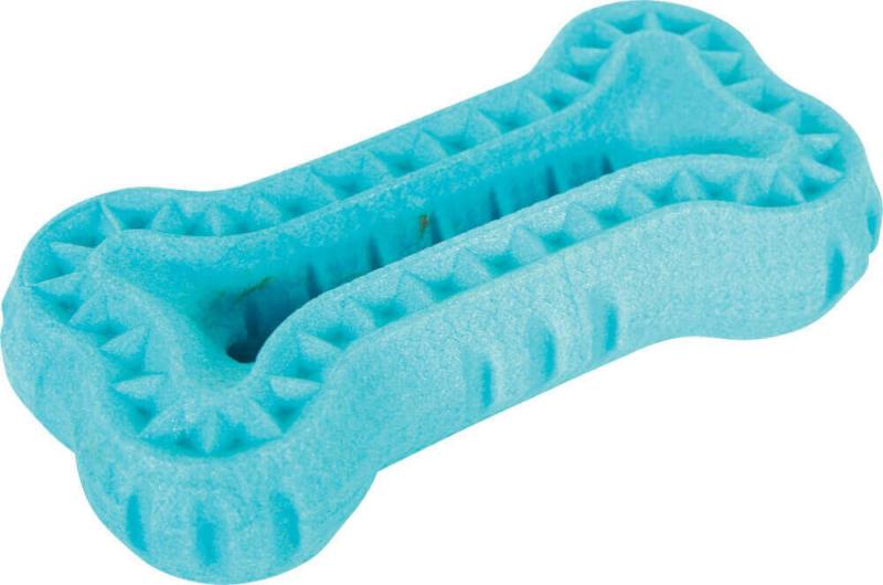 Juguete flotante en forma de hueso - naranja y azul