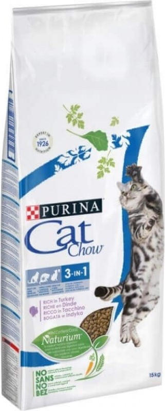 CAT CHOW FELINE 3 en 1 pour chat adulte