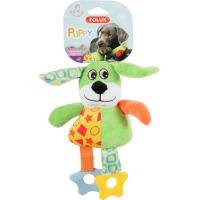 Jouet 1er âge pour chiot Le chien (peluche sonore et anneau à mâcher)