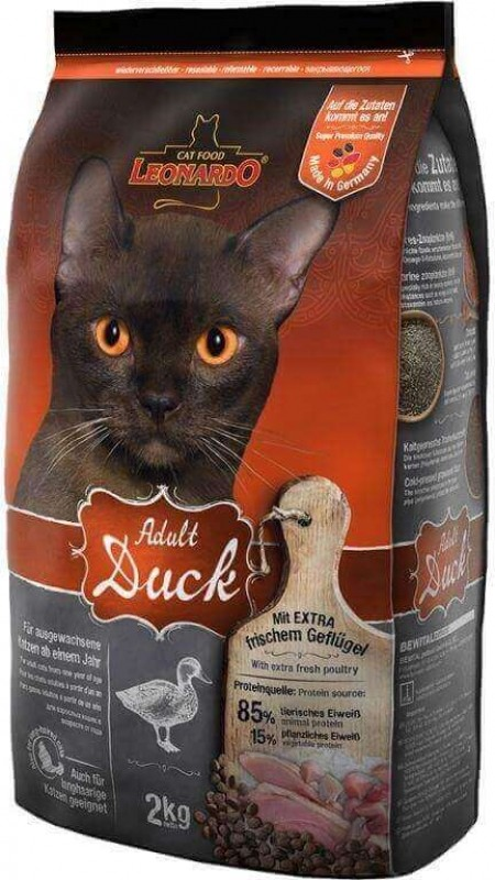 Leonardo Adult Duck au Canard pour chat adulte