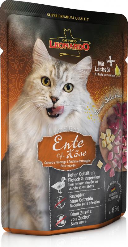 Leonardo Finest Selection DUO pour chat adulte - 8 saveurs au choix - Sachet de 85g