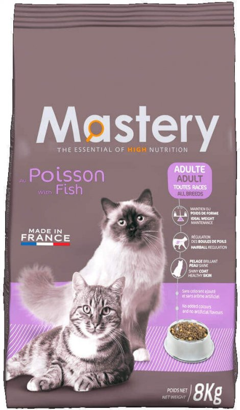 Mastery chat adulte au poisson super premium