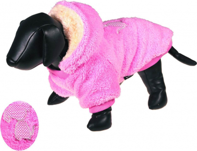 Pull/Sweater pour chien Marshmallow rose et blanc