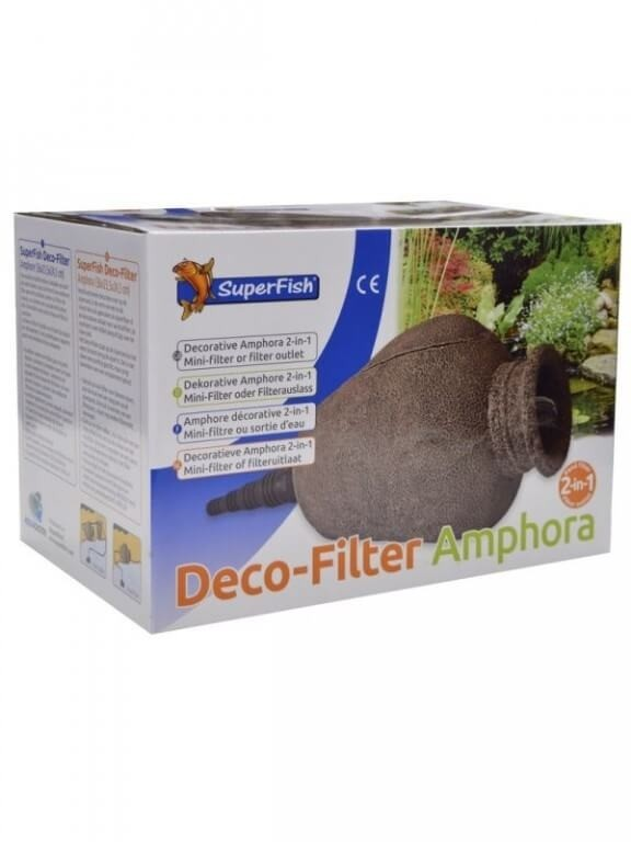Deco filter amphore superfish pour bassin fontaine et - Amphore decoration jardin ...