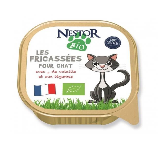 Nestor Bio Fricassées BIO à la volaille pour chat sans céréales_0