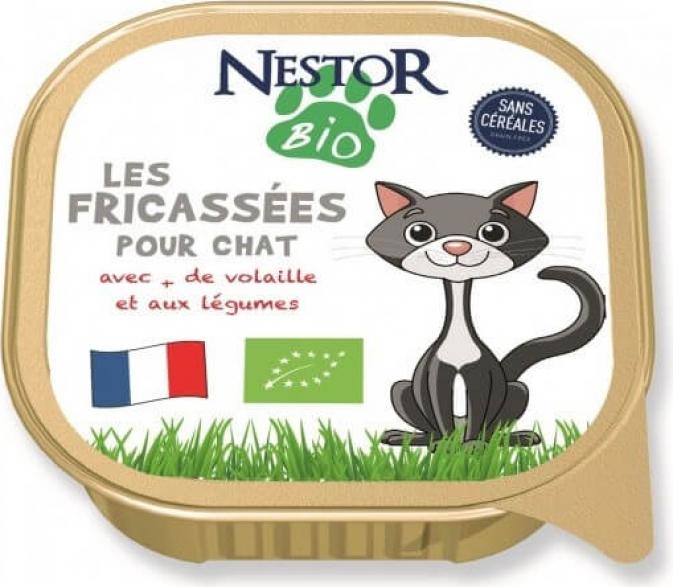 Nestor Bio Fricassées BIO à la volaille pour chat sans céréales