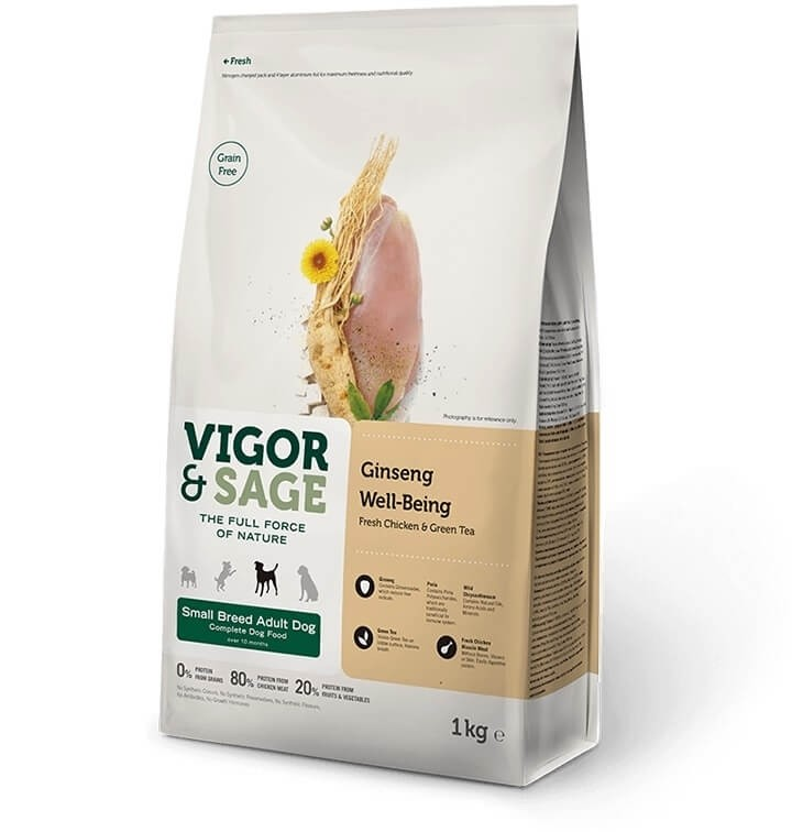 Vigor & Sage au poulet et thé vert pour Chien Adulte de petite taille sans céréales _0
