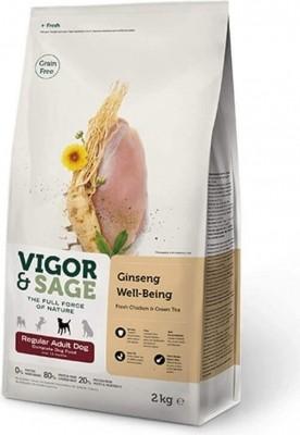 Vigor & Sage au poulet et thé vert pour Chien Adulte de taille standard sans céréales