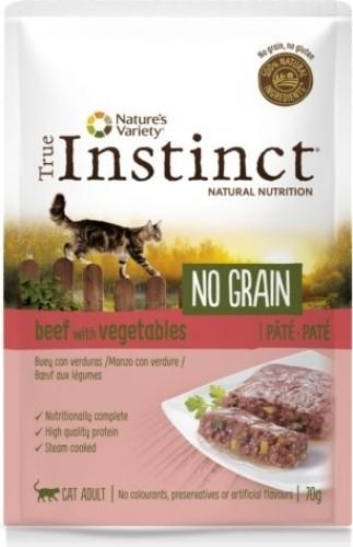 TRUE INSTINCT paté para gato adulto en bolsita sin cereales. 4 sabores a elegir