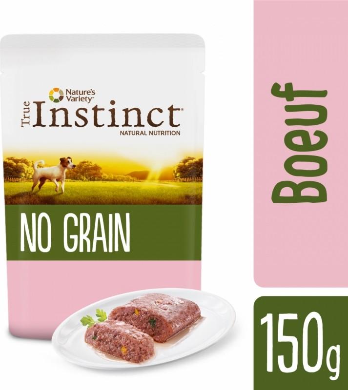 TRUE INSTINCT GF Mini pâtée pour chien de petite taille en sachet sans céréales - 3 saveurs au choix
