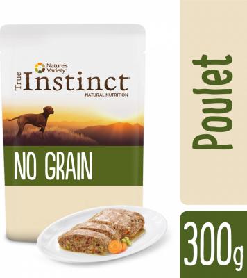 TRUE INSTINCT GF Medium / Maxi pâtée pour chien adulte sans céréales - 2 saveurs au choix
