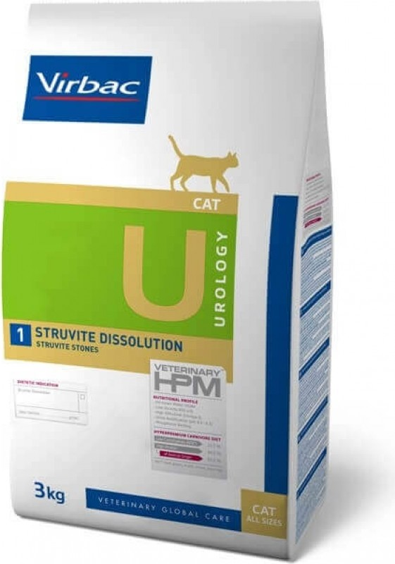 Virbac Veterinary HPM Urology 1 Struvite Dissolution pour chat adulte