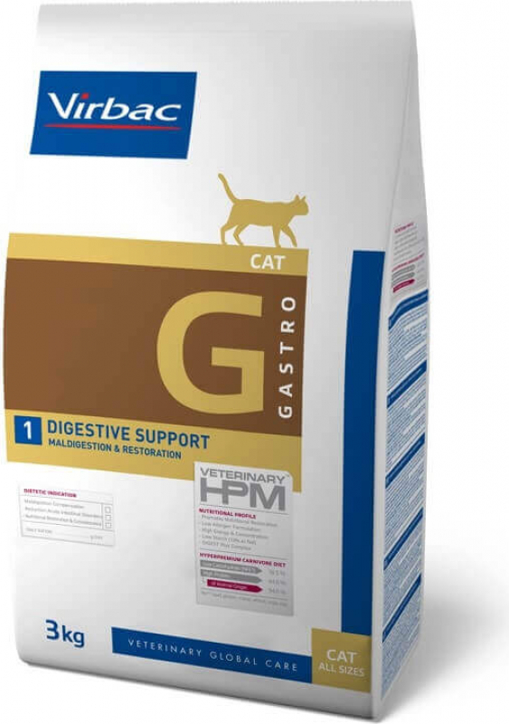 Virbac Veterinary HPM G1 - Digestive Support pour chat adulte