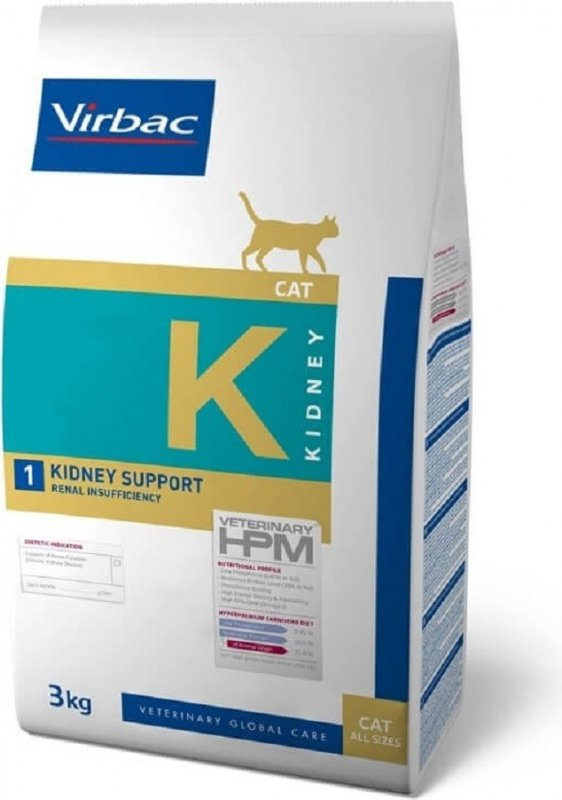 Virbac Veterinary HPM K1 - Kidney Support pour chat adulte