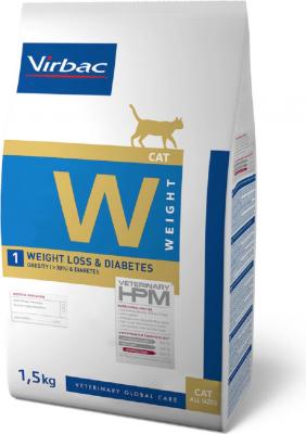 Virbac Veterinary HPM W1 - Weight Loss & Diabetes pour chat adulte en surpoids