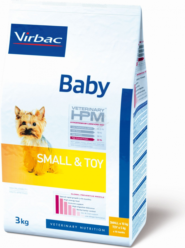 VIRBAC Veterinary HPM Baby Small & Toy pour chiot de petite taille