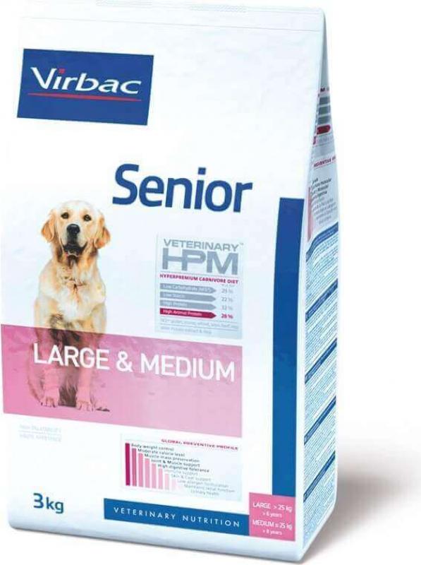 VIRBAC Veterinary HPM Large & Medium Senior pour chien senior