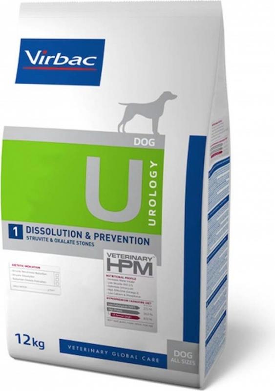 Virbac Veterinary HPM Urology 1 Dissolution et Prévention pour chien adulte