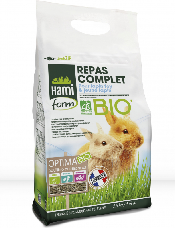 Hamiform Refeição completa bio para coelho anão