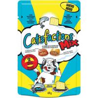 Guloseimas Catisfactions MIX Queijo e salmão para gato e gatinho