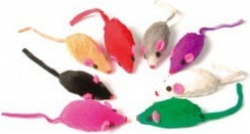 Pack of 8 Furry Mice