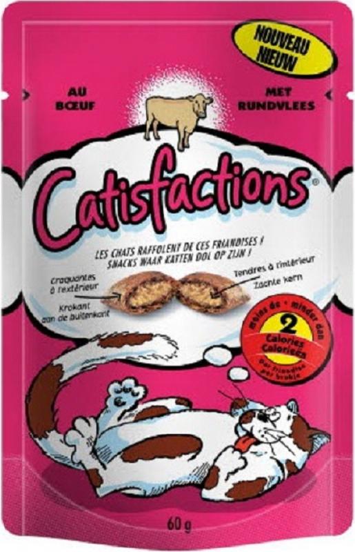 Friandises Catisfactions au boeuf pour chat et chaton