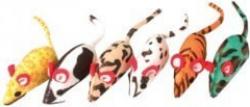 Katzenspielzeug - 6 Mäuse aus Stoff, großes Modell