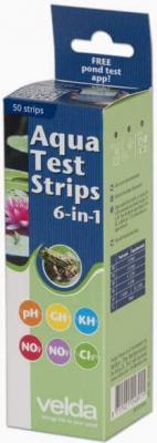 Languettes d'analyse d'eau Velda Aqua Test Strips 6 en 1 (x50)