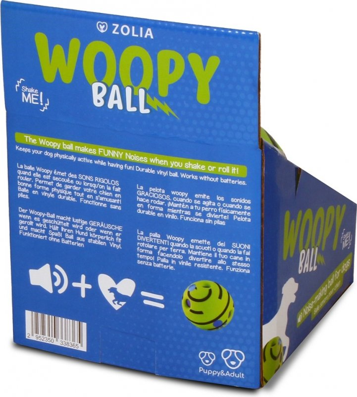 Balle sonore pour chien Zolia Woopy Ball