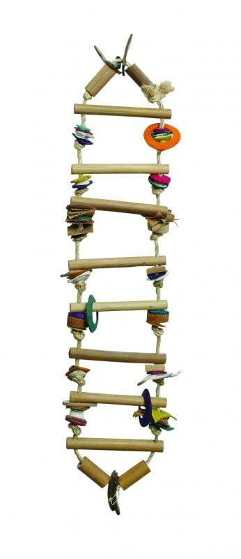 Juguete escalera de bamb juguete para p jaros - Escalera de bambu ...