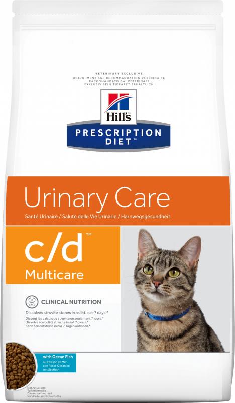 HILL'S Prescription Diet C/D Multicare Urinary Care au poisson pour chat adulte