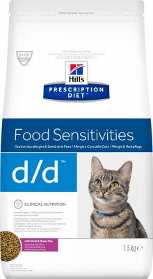 HILL'S Prescription Diet D/D Food Sensitivities pour chat adulte - Canard et petits pois