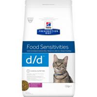 HILL'S Prescription Diet D/D Food Sensitivities pour chat adulte - Canard et petits pois