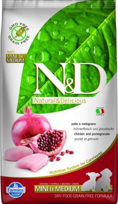 FARMINA N&D Grain Free MINI/MEDIUM pour chiot au Poulet & Grenade