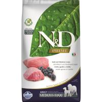 FARMINA N&D Prime Grain Free Agneau & Myrtilles pour chien adulte de taille moyenne/maxi