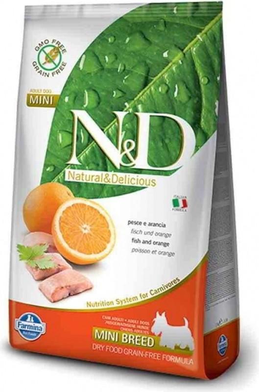 FARMINA N&D Grain Free Poisson & Orange pour chien adulte de petite taille