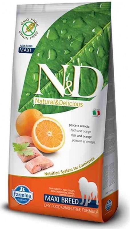 FARMINA N&D Grain Free Poisson & Orange pour chien adulte de grande taille